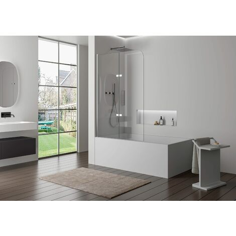 Pare baignoire en verre véritable NANO EX209 - 1200 x 1400 x 6 mm