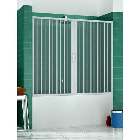 Pare-baignoire mural Astra ouverture centrale avec soufflet PVC