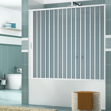 Pare-baignoire mural Astra ouverture latérale à soufflet en PVC