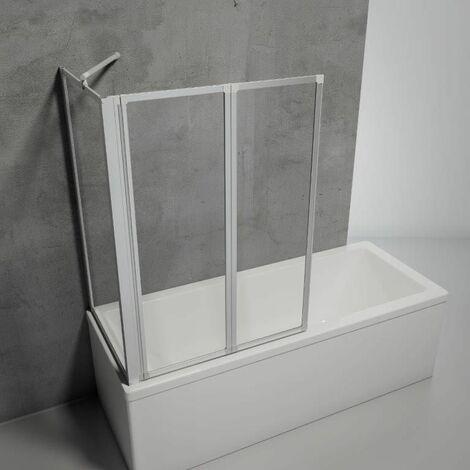 Pare baignoire rabattable, écran de baignoire pivotant à coller, sans percer