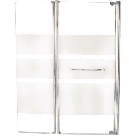 Pare-baignoire ROSA - Paroi 120x140x0,4cm - Verre trempé - Finition chromé