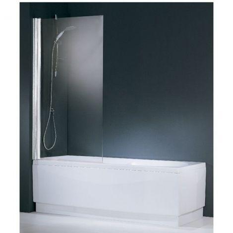 Pare-baignoire verre transparent - 1 ventail - Aurora - Novellini