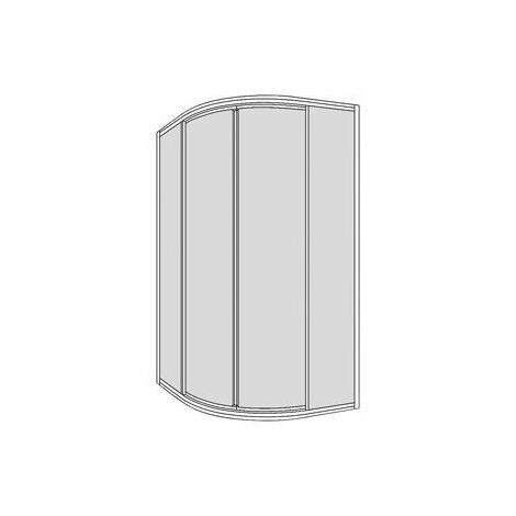 Pare-douche 1/4 cercle+porte battante Koralle TwiggyTop 100, R-550, acrylique