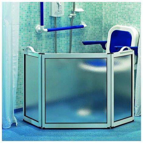 Pare-douche portable 3 panneaux - Salle de bain PMR