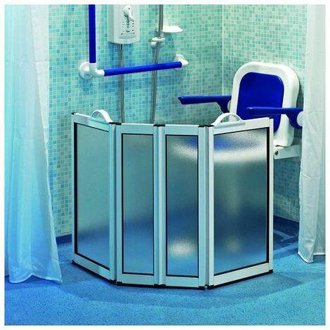 Pare-douche portable 4 panneaux - Salle de bain PMR