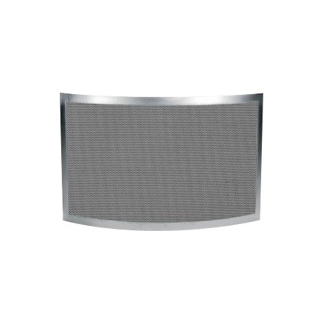 Pare-feu inox brossé mat avec grille anthracite