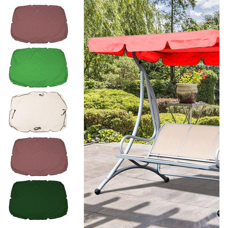 Pare-soleil impermeable de couverture de meubles de jardin exterieur, noir deux places 142 * 120 * 18cm YZHW043