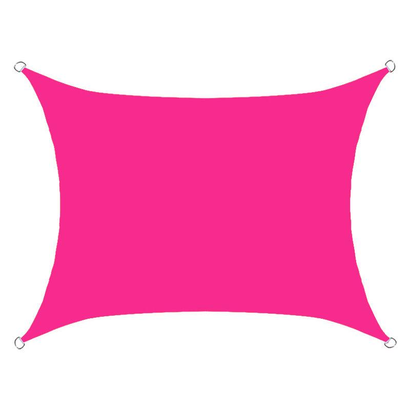Perle Rare - Pare-soleil rectangulaire étanche et pare-soleil voile anti-ultraviolet mur extérieur pare-soleil mur extérieur (rose rouge)
