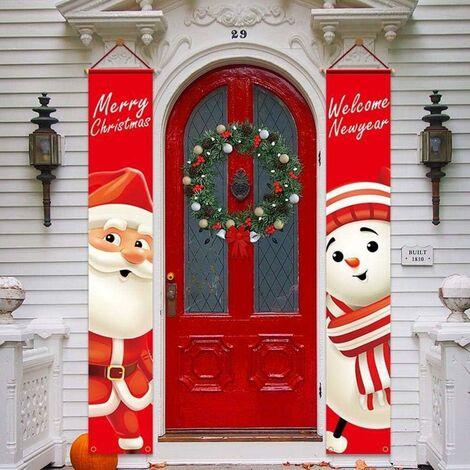 Pareados navideños Prohibición de pancarta navideña Exquisita decoración para colgar en interiores y exteriores, adecuada para paredes, puertas, muebles, árboles de Navidad 180 30 cm / 70,86 11,81 pulgadas
