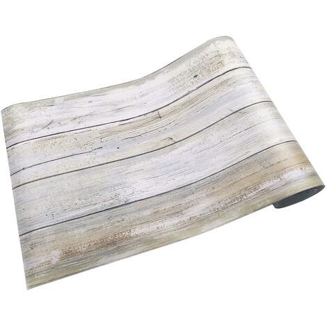 Pared autoadhesiva del piso del grano de madera del vintage del PVC multiusos, etiquetas engomadas del papel pintado