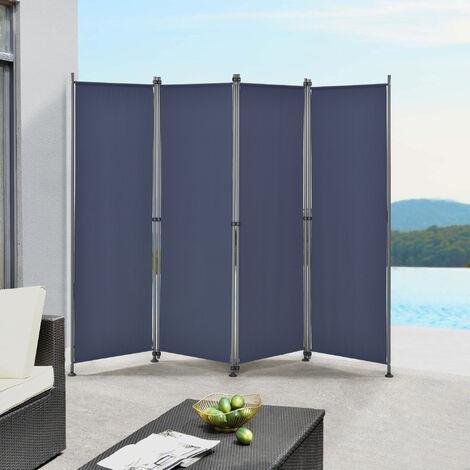 Pared divisoria / Biombo - 215 x 170 cm - Azul oscuro - Biombo exterior - Mampara - Toldo - Protector - Separador de espacios