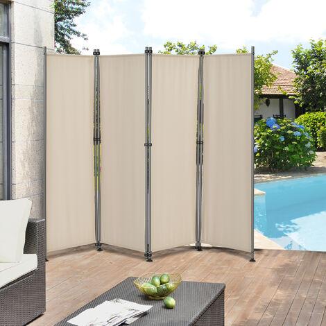 Pared divisoria / Biombo - 215 x 170 cm - Color de arena - Biombo exterior - Mampara - Toldo Protector - Separador de espacios