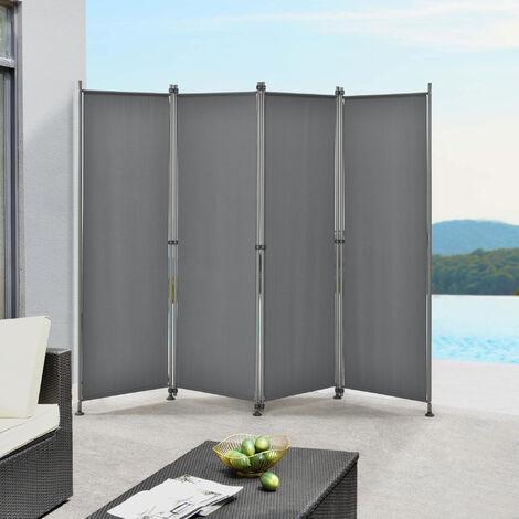 Pared divisoria / Biombo - 215 x 170 cm - Gris medio - Biombo exterior - Mampara - Toldo - Protector - Separador de espacios