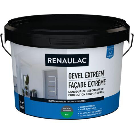 pared exterior RENAULAC pintura para fachadas 2.5L extremadamente antracita mate