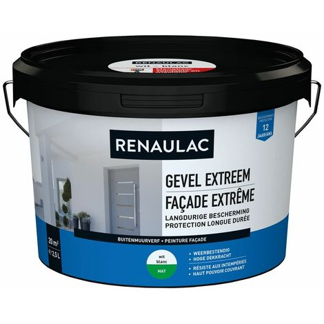 pared exterior RENAULAC pintura para fachadas 2.5L extremadamente blanco mate
