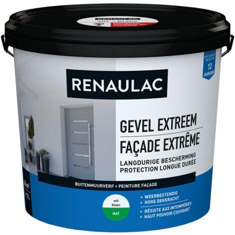 pared exterior RENAULAC pintura para fachadas 5L extremadamente blanco mate