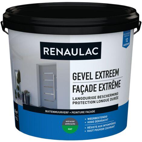 pared exterior RENAULAC pintura para fachadas extremadamente antracita mate 5L