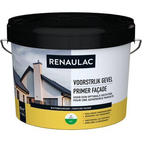 pared exterior RENAULAC pintura para fachadas imprimación blanca 10L