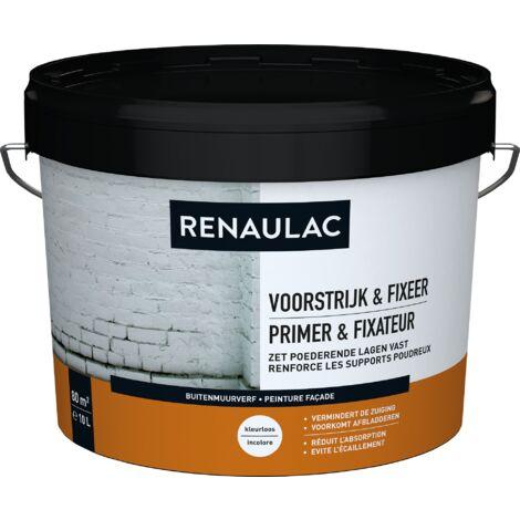 pared exterior RENAULAC pintura para fachadas Primer & Fix 10L transparente