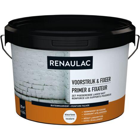 pared exterior RENAULAC pintura para fachadas Primer & Fix 2.5L transparente