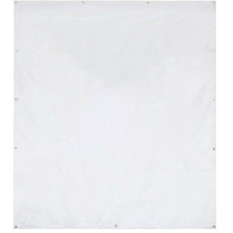 Pared lateral de carpa de jardín PVC 2x2 m blanco 550 g/m²
