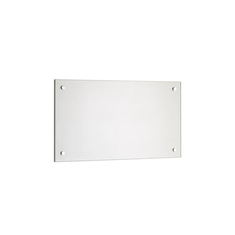 Panel trasero para cocina Cubierta de protección Placa contra salpicadura 80x60CM Vidrio transparente Cocina Protección de pared 6mm ESG - MUCOLA