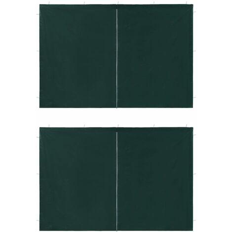 Paredes laterales carpa fiesta 2 unidades cremallera PE verde
