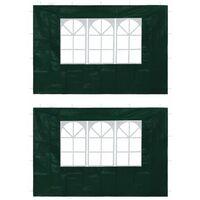 Paredes laterales de carpa de fiesta con ventana verde 2 uds
