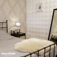 Parement Bois 3d SelectWalls Panneau 3D Cloe 2,5m²