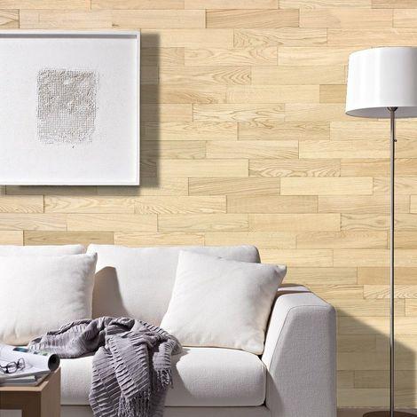 Parement Bois Mural 1m² Woodwall Chêne Nature 400mm