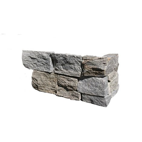 Parement d'Angle 90° Quartzite Grimisuat - vendu par lot de 2 - Gris