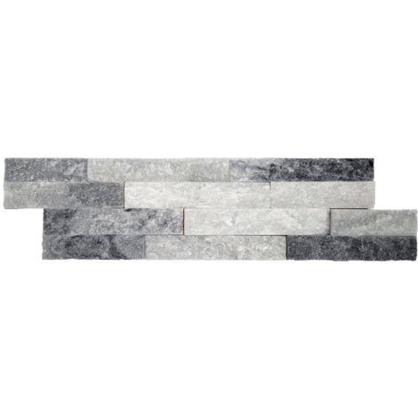 Parement mural en pierre naturelle fine épaisseur - alaska - 13 pcs - Blanc
