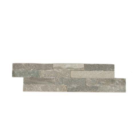 Parement mural en pierre naturelle fine épaisseur - gris - 13 pcs