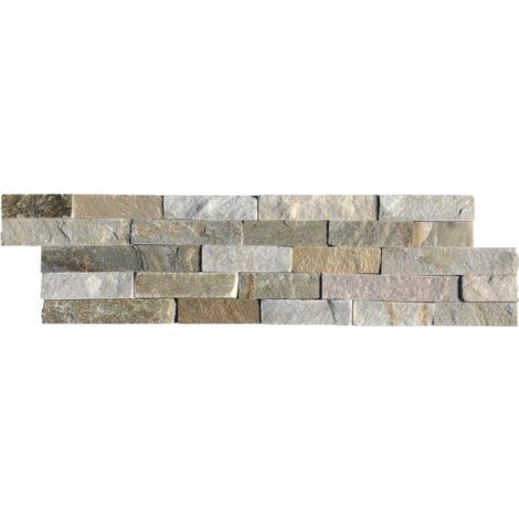 Parement mural en pierre naturelle mix beige - 9 pcs - Beige