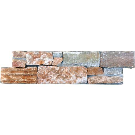 Parement mural en roche naturelle - beige - 4 pcs