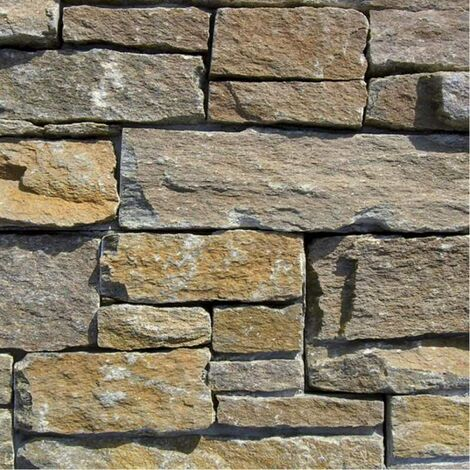 Parement Quartzite Bettex Doré ép.3/4cm - vendu par lot de 0.44 m²