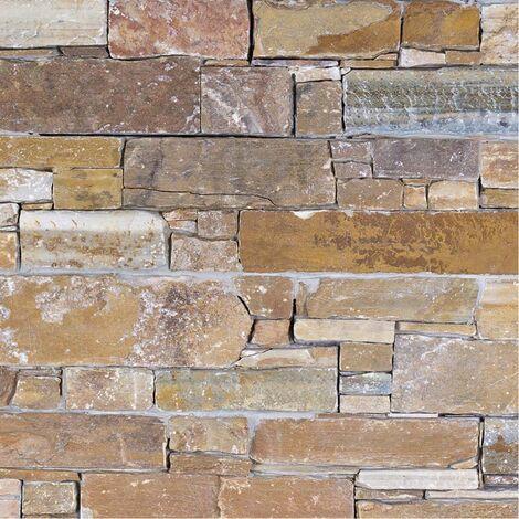 Parement Quartzite Bormio Giallo ép.3/4cm - vendu par lot de 0.341 m² - Gris, Jaune, Orange