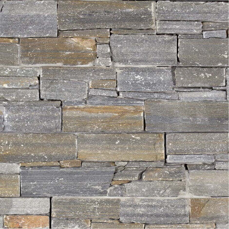 Parement Quartzite Varallo Grigio ép.3/4cm - vendu par lot de 0.341 m²