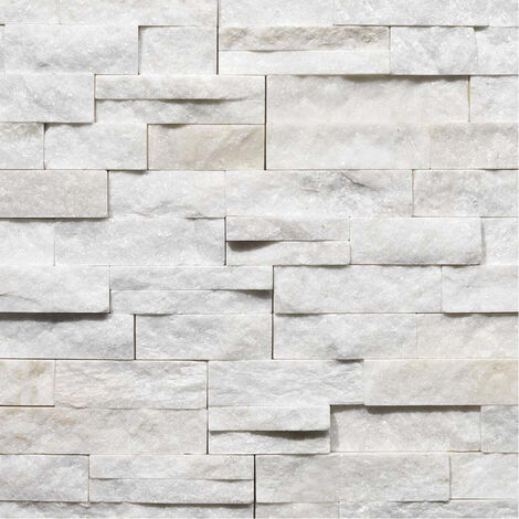 Parement Quartzite White Snow ép.2/3cm - vendu par lot de 0.522 m² - Blanc