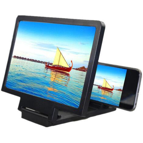 Paresseux artefact 3D loupe d'ecran de telephone portable loupe video mobile ecran de telephone portable loupe HD noir