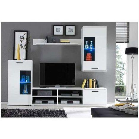 Parete Attrezzata Multiuso Parete da soggiorno con illuminazione LED  compresa