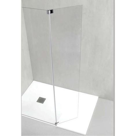 Parete Doccia 120 Cm.Parete Doccia 119 120 A Muro Con Sistema Walk In Italo Semplice