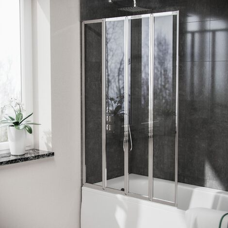 Parga 4 Folding Glass Panel Door Bath Shower Screen