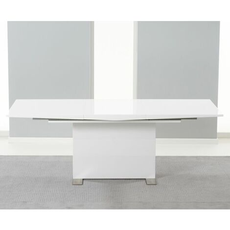 Parilo 150Cm Extending To 210Cm Solid Wood White High Gloss