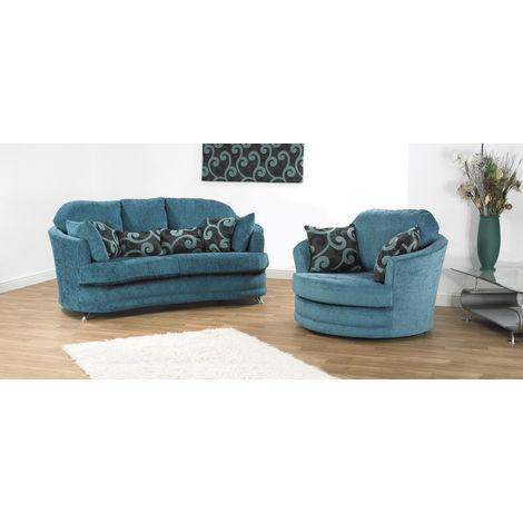 Paris 2 + swivel Fabric Sofa