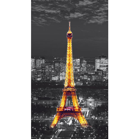 Paris in the night, rideau imprimé La Tour Eiffel 140x245 cm, 1 part