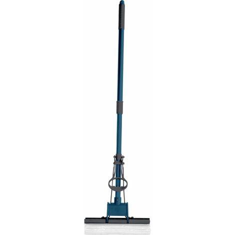 Paris Prix - Balai Essoreur télescopique 115cm Anthracite & Bleu Paon