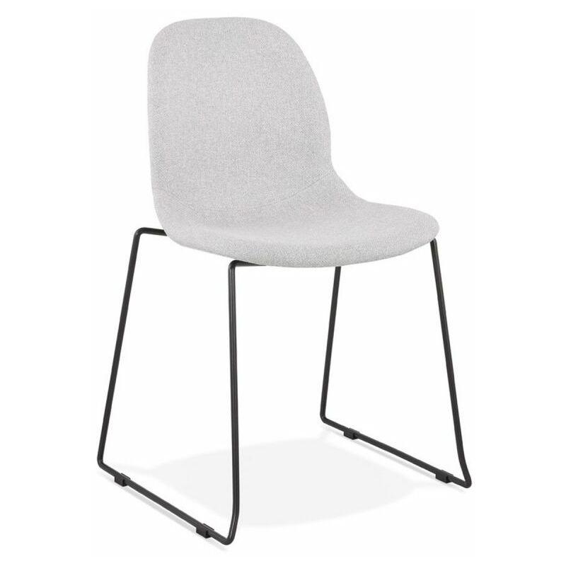 Chaise Design En Tissu clova 85cm Gris & Noir - Paris Prix