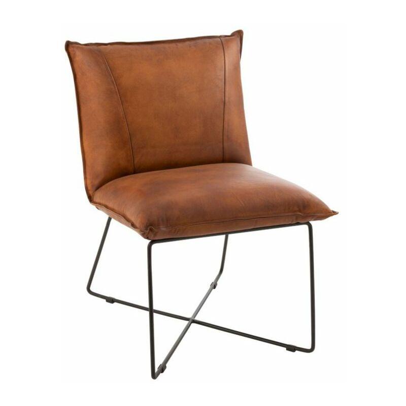 Chaise Design lounge 85cm Cognac - Paris Prix
