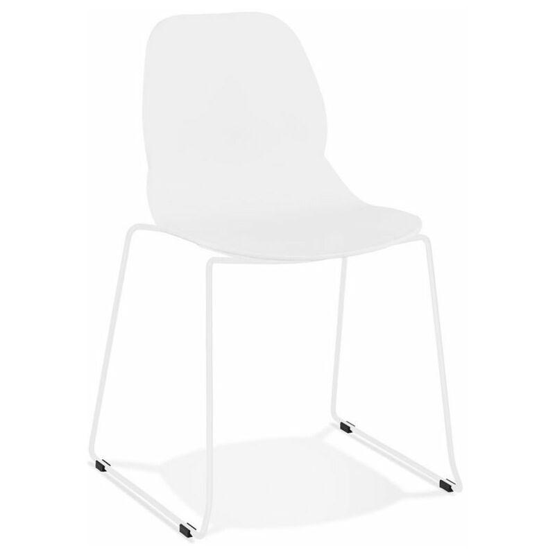 Chaise Design olganic 85cm Blanc - Paris Prix
